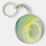 Arco iris abstracto de la lavadora llaveros