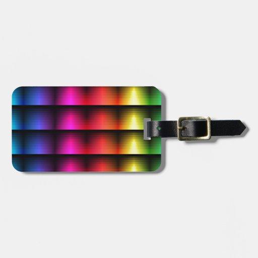 Arco iris abstracto etiquetas maleta