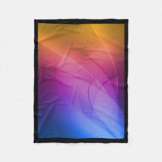 Arco iris abstracto hermoso manta de forro polar