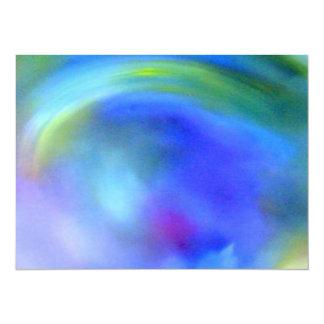 """Arco iris abstracto invitación 5.5"""" x 7.5"""""""