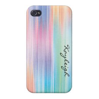 Arco iris abstracto iPhone 4/4S carcasas
