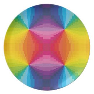 Arco iris abstracto plato para fiesta