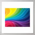 Arco iris abstracto póster