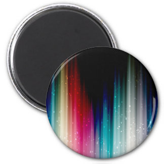 Arco iris abstracto silenciado imán redondo 5 cm