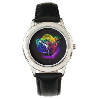 Arco iris abstracto subió relojes de pulsera