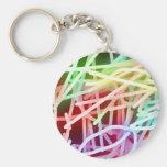 Arco iris abstractos llaveros personalizados