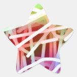 Arco iris abstractos calcomanías forma de estrellas