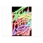 Arco iris abstractos postal