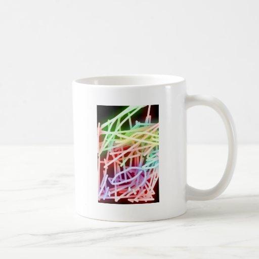 Arco iris abstractos taza de café