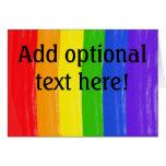 Arco iris adaptable de la acuarela tarjeta