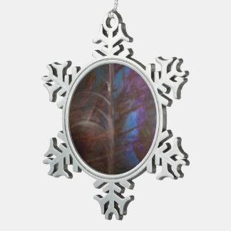 Arco iris… adorno de peltre en forma de copo de nieve