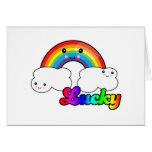 arco iris afortunado tarjeta