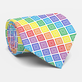 Arco iris ajustado corbata