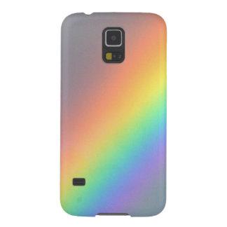 arco iris amarillo púrpura del rojo azul carcasa de galaxy s5