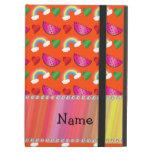 Arco iris anaranjado de neón conocido de encargo d