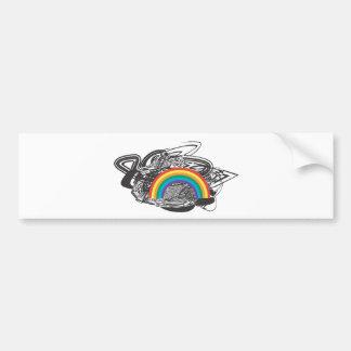 Arco iris apenado pegatina para auto