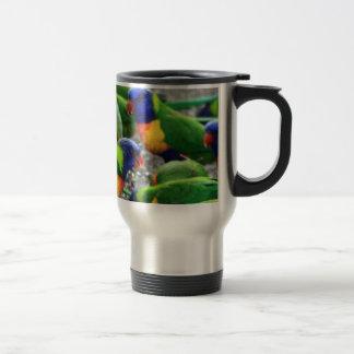Arco iris australiano Lorikeets Taza De Viaje