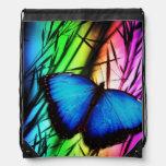 Arco iris azul de la mariposa