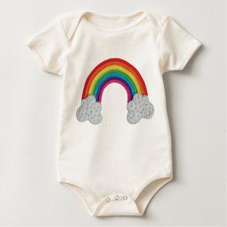 Arco iris Babygrow - un diseño enrrollado de Mamelucos