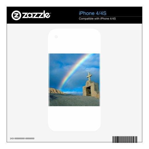 Arco iris Bahía De Los Ángeles México Calcomanía Para iPhone 4S