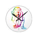 Arco iris Basset Hound Reloj