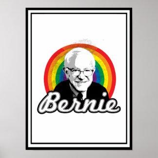 Arco iris Bernie - políticas de LGBT - Póster