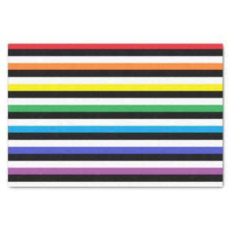 Arco iris, blanco y rayas negras papel de seda