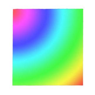 Arco iris bloc de notas