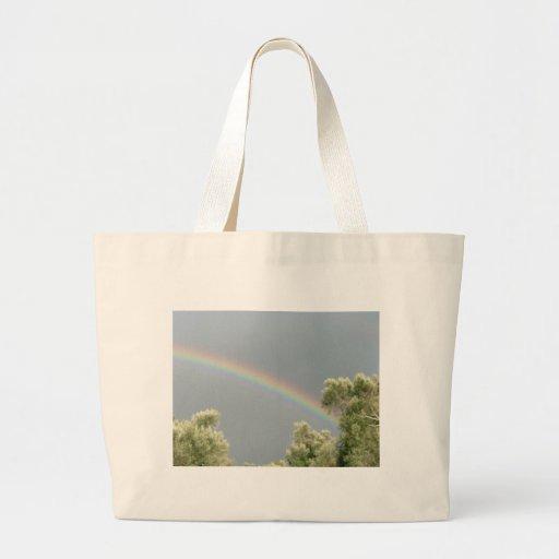 arco iris bolsa lienzo