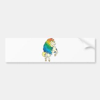 arco iris bonito de Pegaso con alas Pegatina De Parachoque