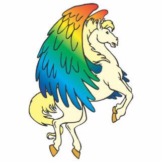 arco iris bonito de Pegaso con alas Fotoescultura Vertical
