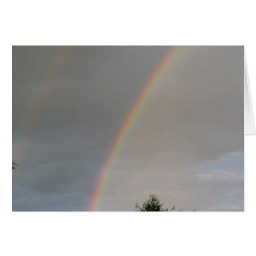 Arco iris bonito tarjeta de felicitación