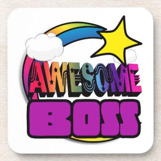 Arco iris Boss impresionante de la estrella fugaz Posavasos De Bebida