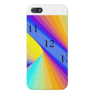 arco iris brillante del caso 11-12-13 del final de iPhone 5 fundas