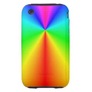 Arco iris brillante iPhone 3 tough carcasas