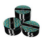 Arco iris brillantes conocidos personalizados del  juego de fichas de póquer