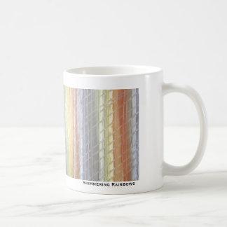 Arco iris brillantes tazas de café