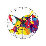 Arco iris bulldog Francés Reloj