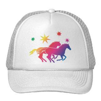 Arco iris caballo gorras