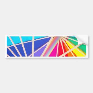 Arco iris etiqueta de parachoque
