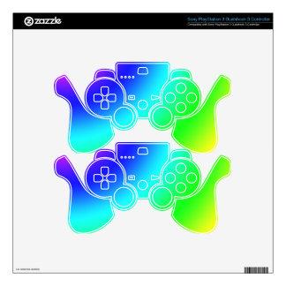 Arco iris calcomanía para mando PS3