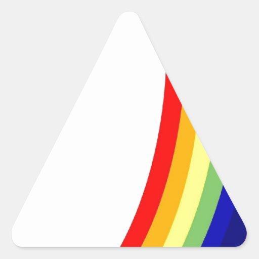 Arco iris calcomanías trianguladas personalizadas