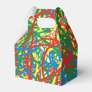 Arco iris caliente colorido del chapoteo del caja para regalo de boda