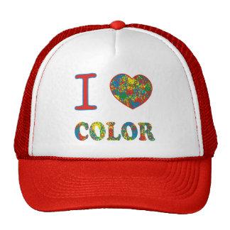 Arco iris caliente colorido del chapoteo del gorras de camionero