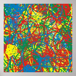 Arco iris caliente colorido del chapoteo del posters