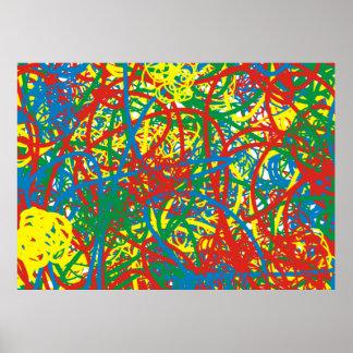 Arco iris caliente colorido del chapoteo del poster