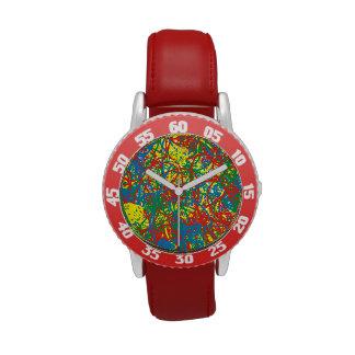 Arco iris caliente colorido del chapoteo del reloj