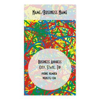 Arco iris caliente colorido del chapoteo del tarjetas de visita
