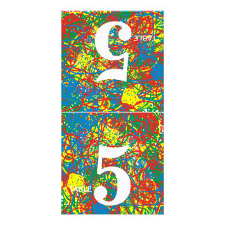 Arco iris caliente colorido del chapoteo del tarjetas fotográficas