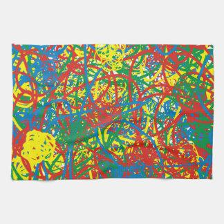 Arco iris caliente colorido del chapoteo del toalla